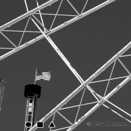 The SkyWheel with American flag.  Myrtle Beach, SC.