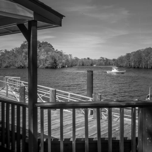 View From Captain Buck's Port, Bucksport Marina, SC