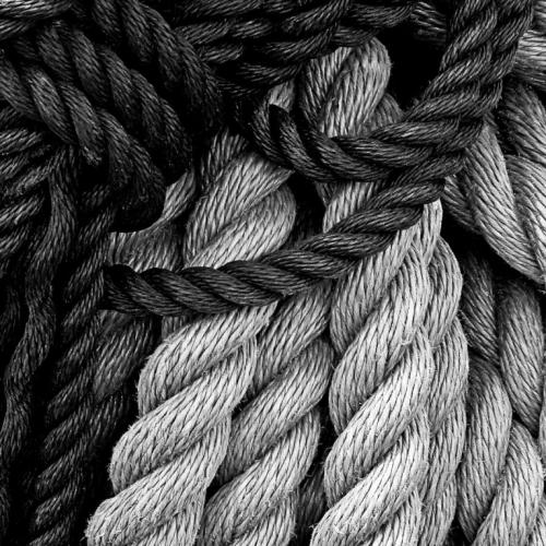 Black and White Manila Ropes - Contrast